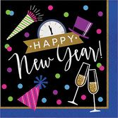 New Years Table Accessories New Year Cheers Luncheon Napkins Image