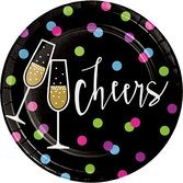 New Years Table Accessories New Year Cheers Luncheon Plates Image