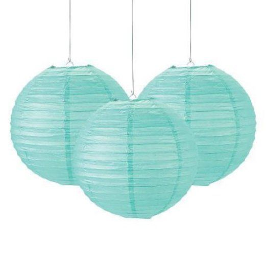 Baby Shower Decorations Mint Green Lanterns  Image