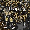 Glittering new year black napkin