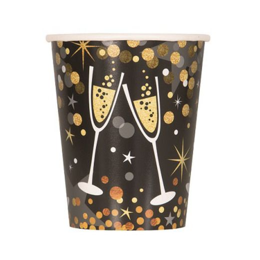 New Years Table Accessories Glittering New Year Cups Image