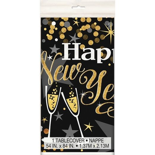 New Years Table Accessories Glittering New Year Table Cover Image