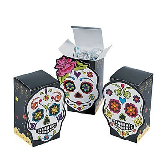 Day of the Dead Gift Bags & Paper Day of the Dead Favor Boxes Image