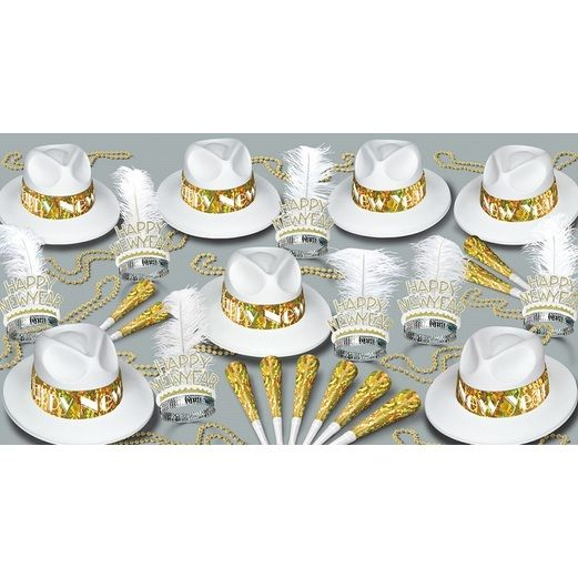 New Years Party Kits LA Swing Gold For 50 Image