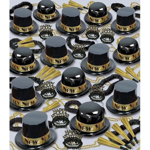 New Years Party Kits Gold Showtime for 100 Image