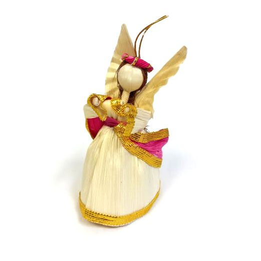 Christmas Decorations Cornhusk Mini Angel Image