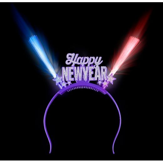New Years Hats & Headwear L.E.D. Happy New Year Head Bopper Image