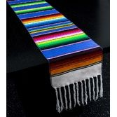 Fiesta Table Accessories Blue Woven Serape Table Runner Image