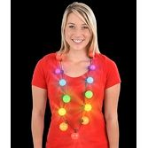 "Glow Lights 28"" Light Up Rainbow Ball Necklace Image"