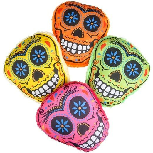Day of the Dead Favors & Prizes Sugar Skull Pillow Image