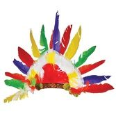 Hats & Headwear Deluxe Feather Native American Headress Image