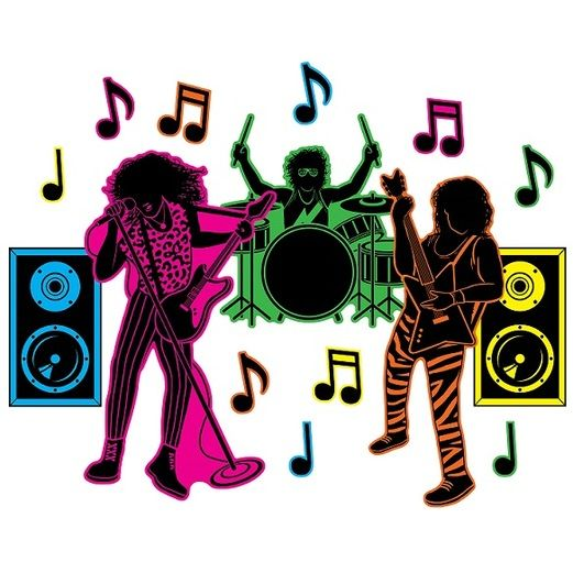 80s Decorations 80's Hair Band Silhouettes Image