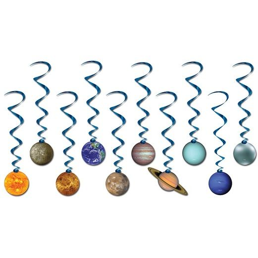 Birthday Party Decorations Solar System Whirls Image