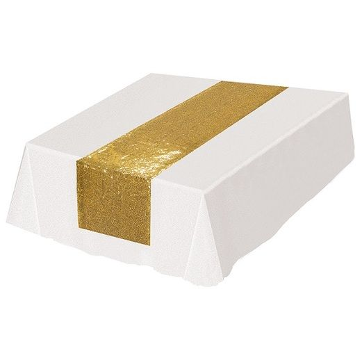 Table Accessories Gold Sequined Table Runner Image