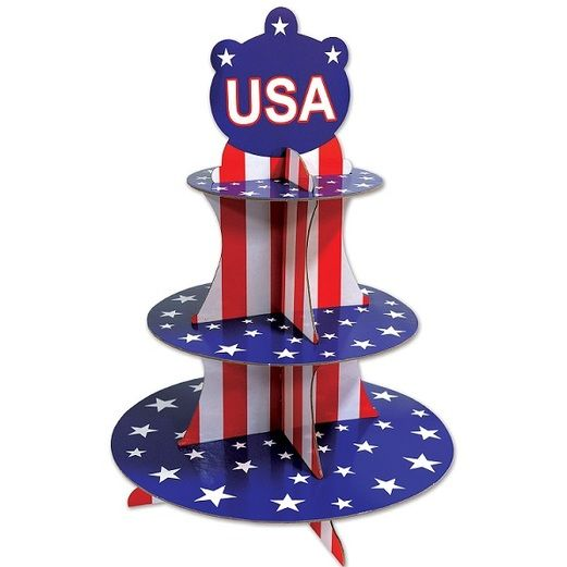 Patriotic Decorations Patriotic Cupcake Stand Image