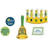 Decorations / Cutouts Father's Day King For A Day Kit Image