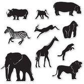Decorations / Cutouts Jungle Animal Silhouettes Image