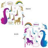 Decorations / Scenes & Props Unicorn Glittered Photo Fun Signs Image