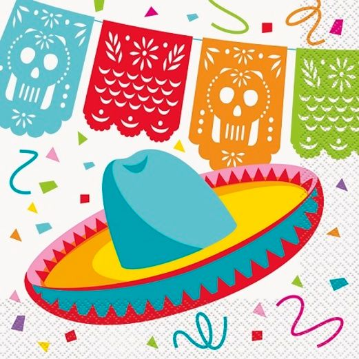 Fiesta Table Accessories Mexican Fiesta Luncheon Napkins Image