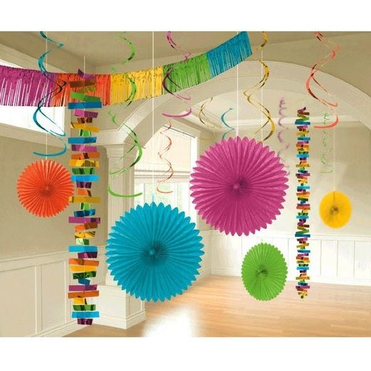 Fiesta Decorations Multicolor Hanging Decor Kit Image