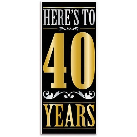 Birthday Party Decorations Here's to 40 Years Door Cover Image
