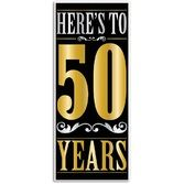 Birthday Party Decorations Here's to 50 Years Door Cover Image