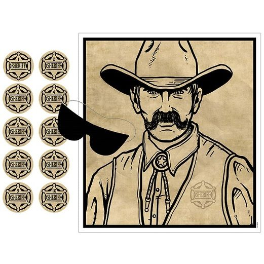 Western Decorations Pin the Badge on the Sheriff Game Image