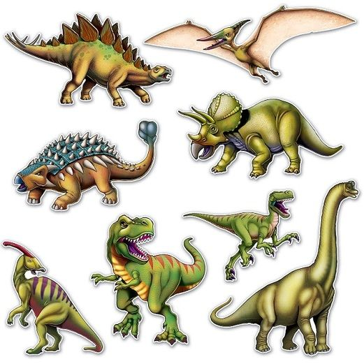 Birthday Party Decorations Dinosaur Cutouts Image