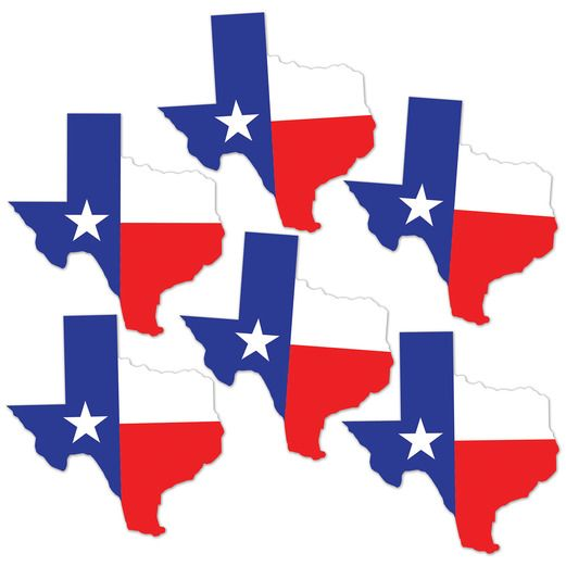 Western Decorations Texas Mini Cutouts Image