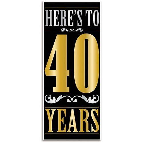 Here's to 40 Years Door Cover