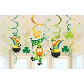 St. Patrick's Day Decorations St. Patrick's Day Hanging Swirls Image