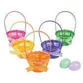 Easter Favors & Prizes Bamboo Basket with Bow Image