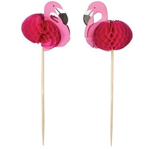 Luau Table Accessories Flamingo Picks Image