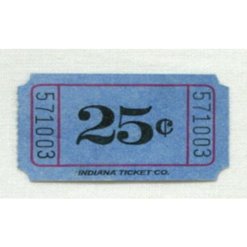 Blue 25 Cent Ticket Roll