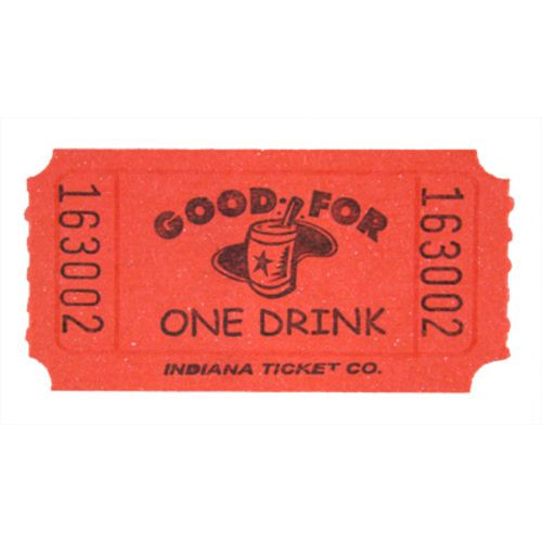 Red Drink Ticket Roll