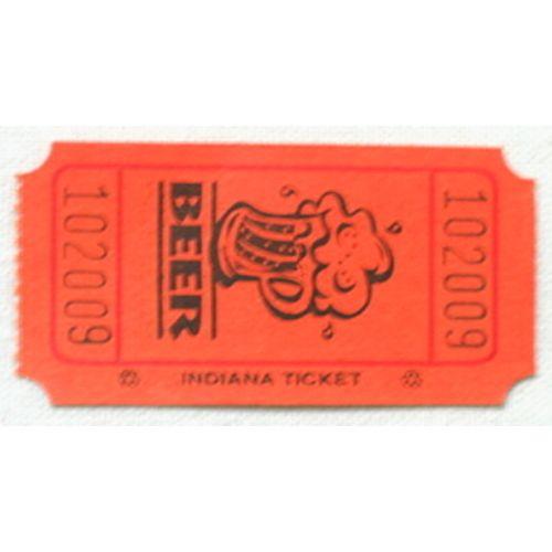 Orange Beer Ticket Roll