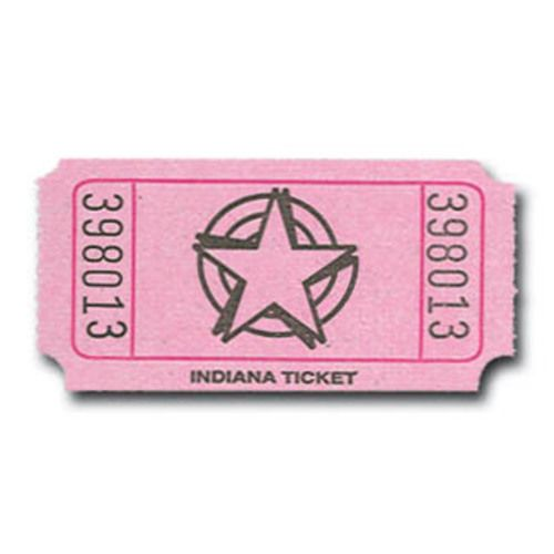 Pink Star Ticket Roll