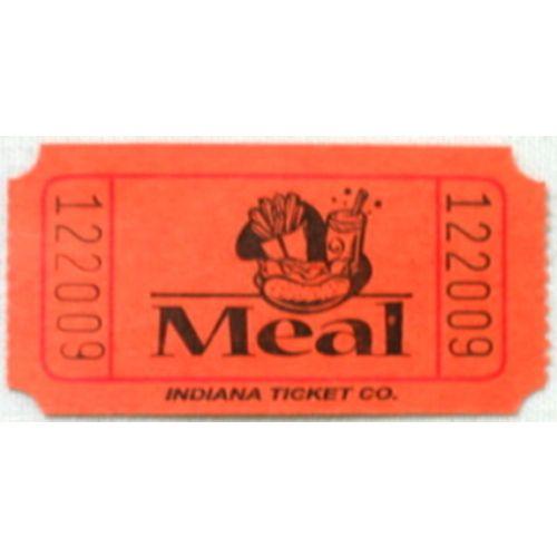 Orange Meal Ticket Roll