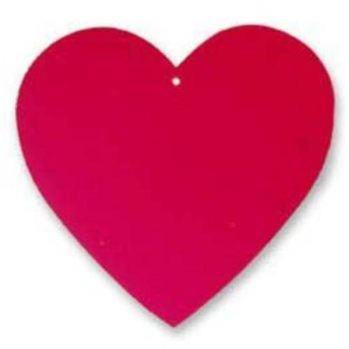"Foil Red Heart 4"""