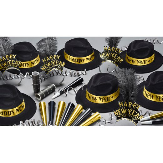 New Years Party Kits Gold Roaring 20s for 25 Image