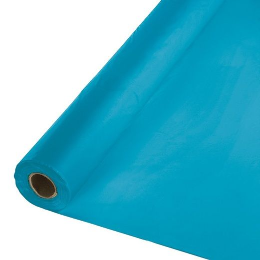4th of July Table Accessories 100' Turquoise Table Roll Image