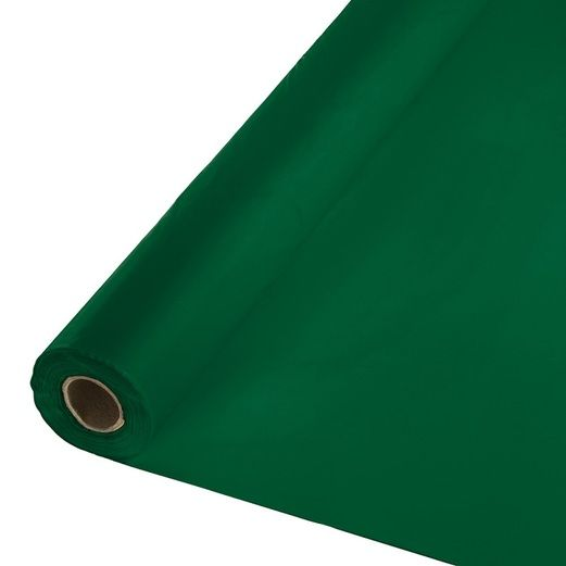 Mardi Gras Table Accessories 100' Table Roll Hunter Green Image