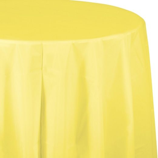 Easter Table Accessories Round Table Cover Yellow Image