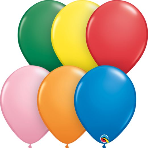 "New Years Balloons 11"" Standard Assortment Qualatex Balloons Image"