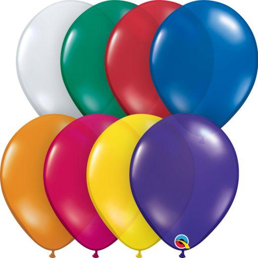 "New Years Balloons 11"" Jewel Tone Assortment Qualatex Balloons Image"