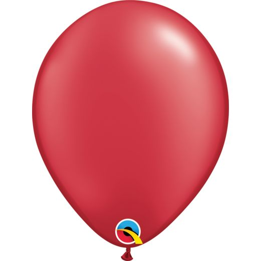 "Valentine's Day Balloons 11"" Pearl Ruby Red Balloons Image"