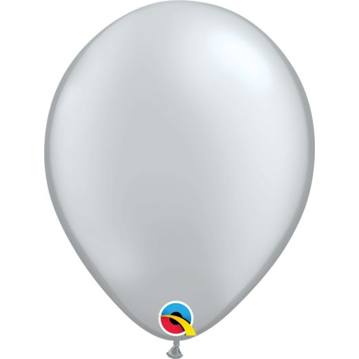 "New Years Balloons 11"" Metallic Silver Balloons Image"