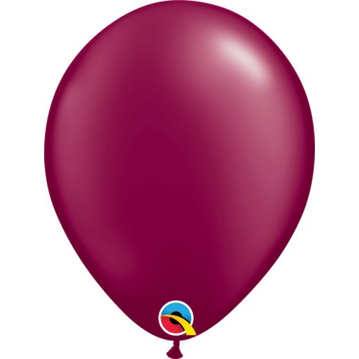 "Thanksgiving Balloons 11"" Qualatex Pearl Burgundy Balloons Image"