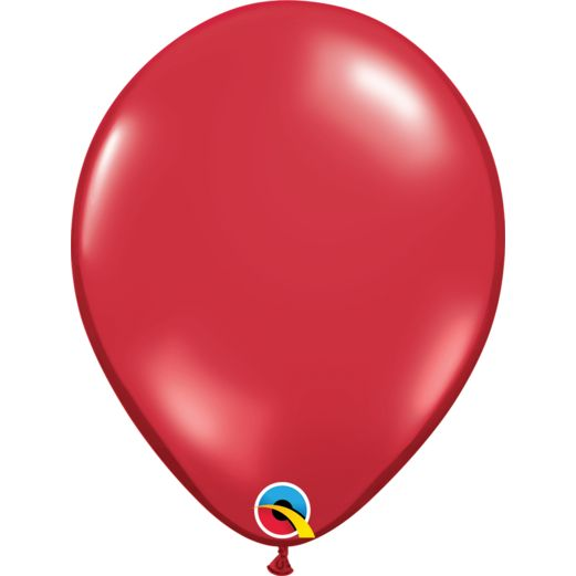 "Valentine's Day Balloons 11"" Ruby Red Balloons Image"