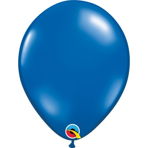 "New Years Balloons 11"" Sapphire Blue Balloons Image"